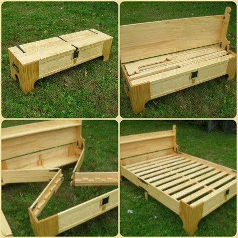 Diy Folding Bench Bed