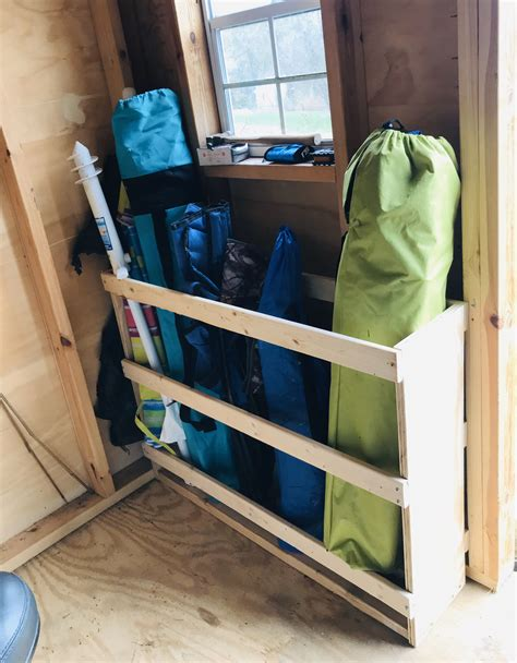 Diy Folding Chair Storage