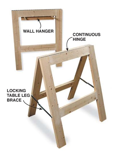 Diy Folding Sawhorse Plans 1 X 4