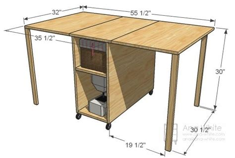 Diy Folding Sewing Table Plans