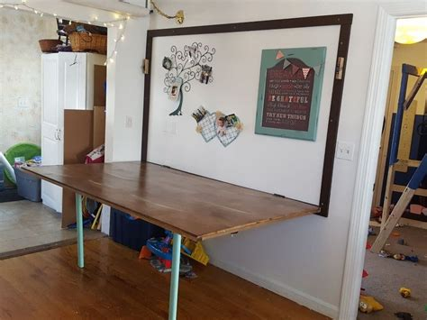 Diy Folding Table On The Wall