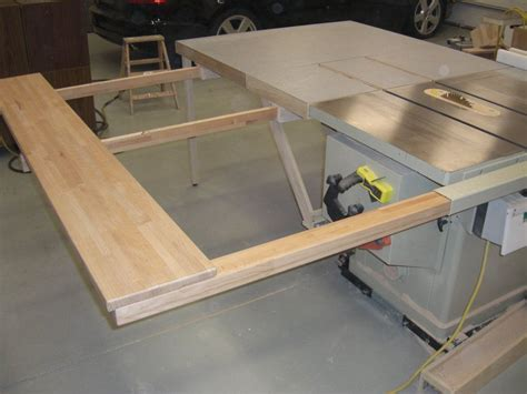 Diy Folding Table Saw Extebsion