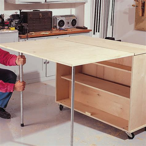 Diy Folding Table Storage