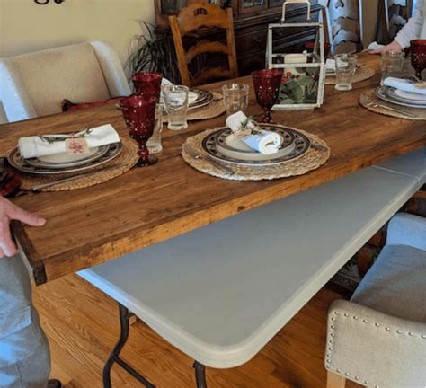 Diy Folding Table Topper