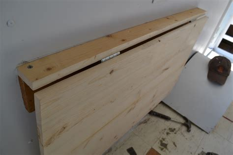 Diy Folding Wall Table With Hinges
