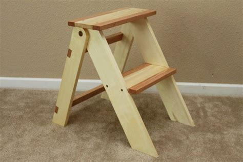 Diy Folding Wooden Step Stool
