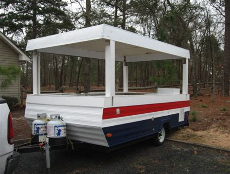 Diy Food Cart Made From Pop Up Camper