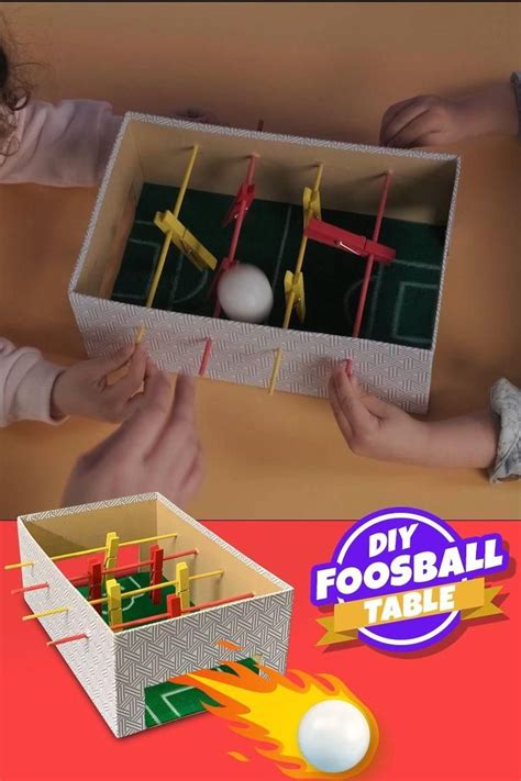 Diy Foosball Table Shoebox Floats