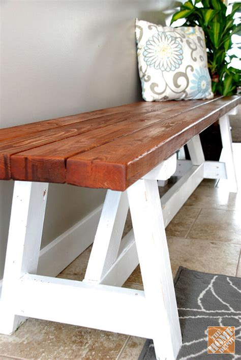 Diy Foyer Wooden Bench Table Plans