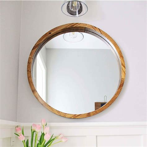 Diy Framed Mirror Circles Wood Rectangle Coffee
