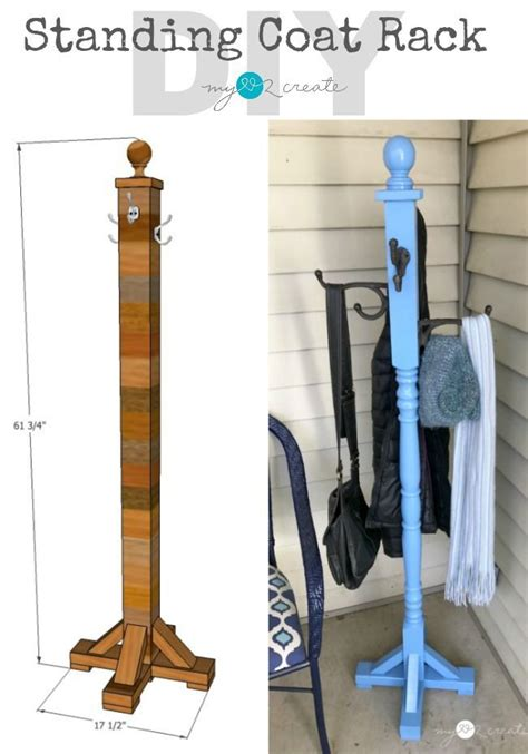 Diy Free Standing Coat Rack Pinterest Food