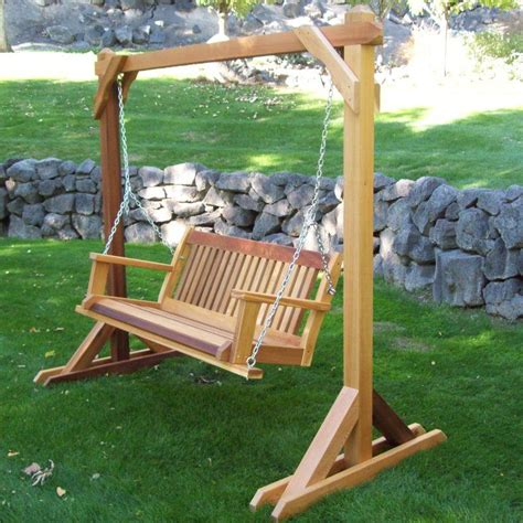 Diy Free Standing Porch Swing Plans