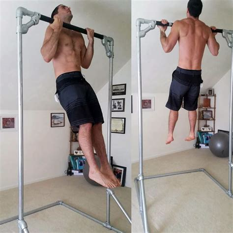 Diy Free Standing Shelving Pull Up Bar