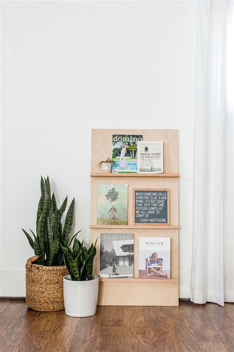 Diy Free Standing Wall Bookshelves