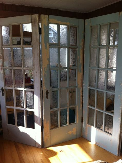 Diy French Doors Used As Room Divider