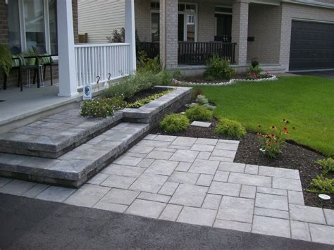 Diy Front Steps By Driveway And Walk