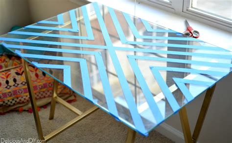 Diy Frosted Glass Table Top