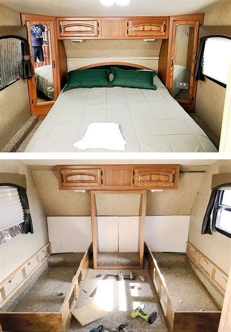 Diy Full Bed Over Queen Bed Travel Trailer