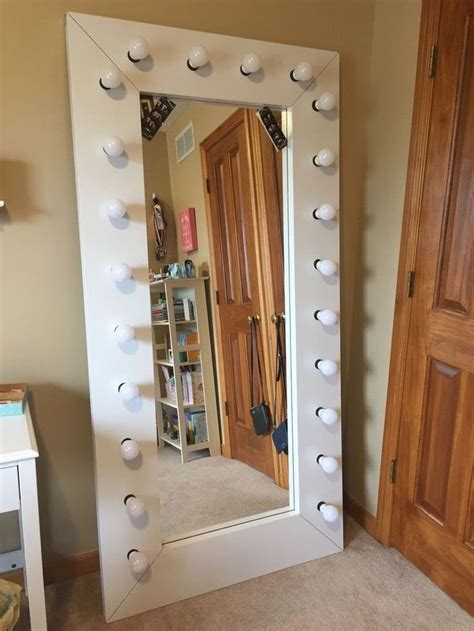 Diy Full Length Mirror With Lights