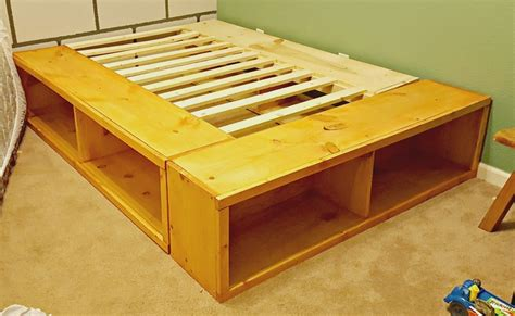 Diy Full Size Bed Frame With Storage
