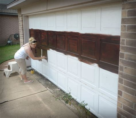 Diy Garage Door Wood Paint