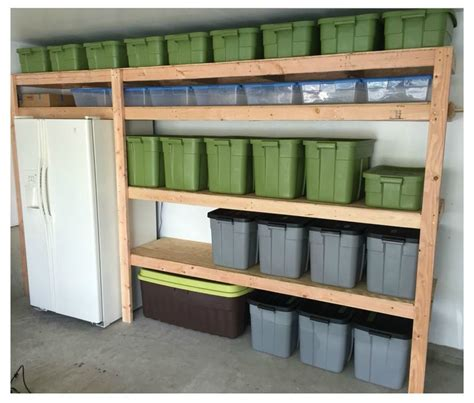 Diy Garage Shelves Ideas Projects