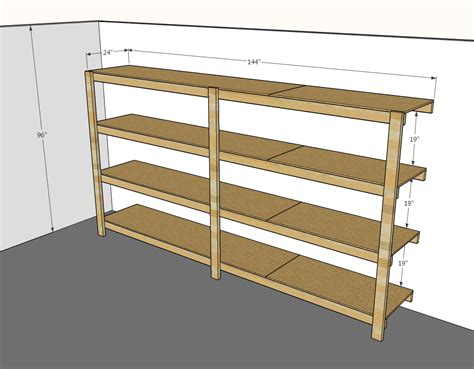 Diy Garage Shelves Plans And Dimensions
