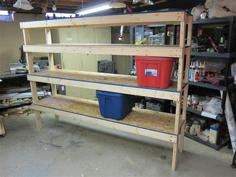 Diy Garage Shelves Wood