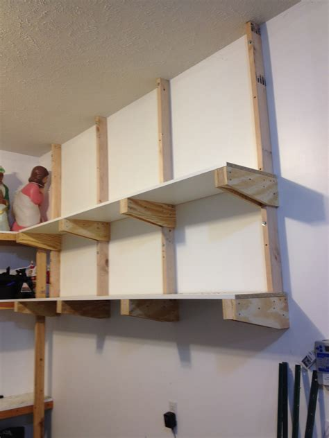 Diy Garage Wall Wood Shelf
