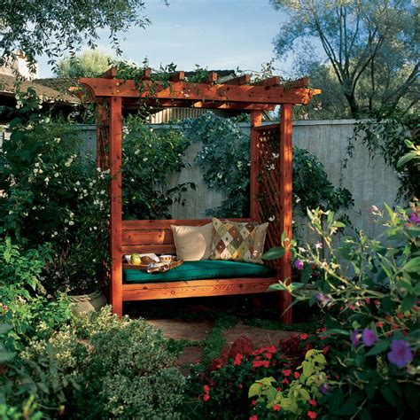 Diy Garden Arbor With Bench
