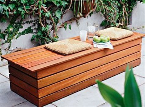 Diy Garden Bench Seat With Storage