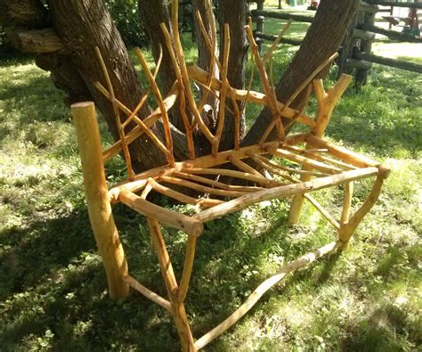 Diy Garden Benches Made From Tree Branches