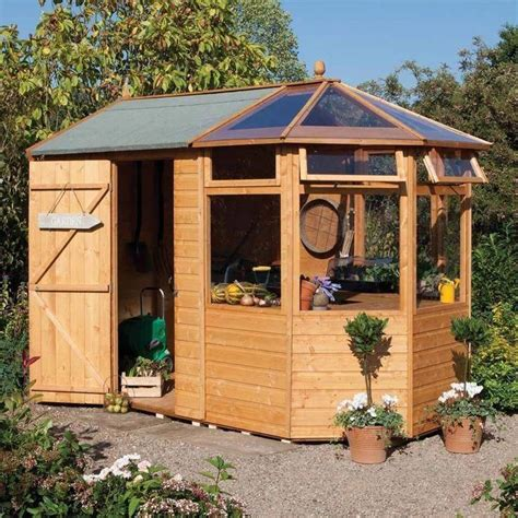 Diy Garden Wood Shed Combinations