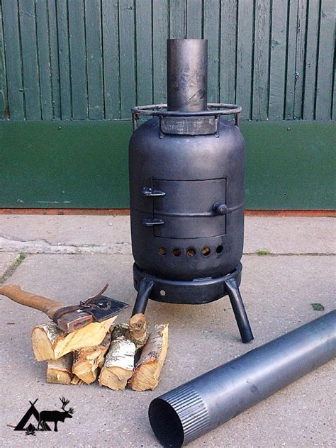Diy Gas Bottle Wood Burning Stove