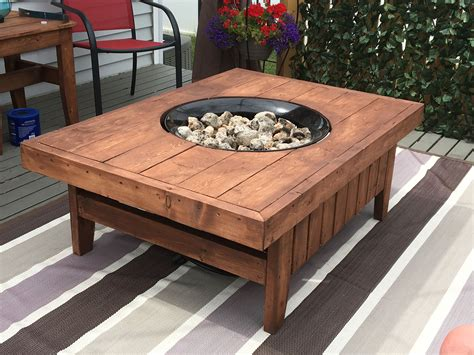 Diy Gas Fireplace Table
