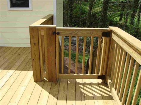 Diy Gate For Deck Stairs