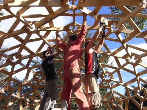 Diy Geodesic Dome Made Out Of Wood