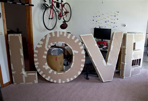 Diy Giant Letters With Cardboard