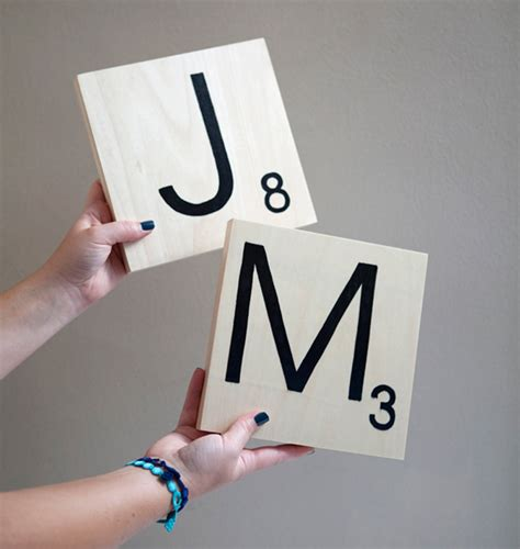Diy Giant Scrabble Letters