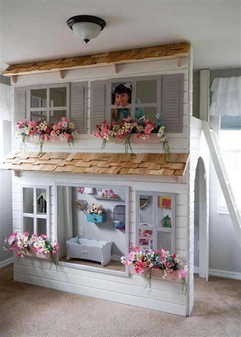 Diy Girls Loft Bed With Play Area Underneath