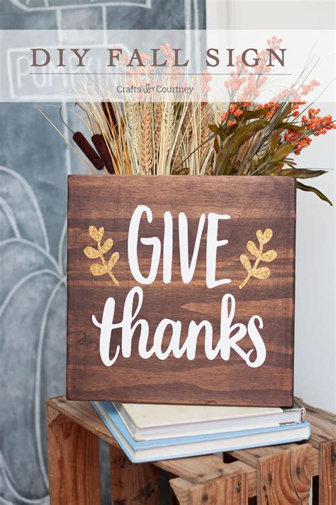Diy Give Thanks Wood Sign