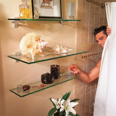 Diy Glass Bathroom Shelves