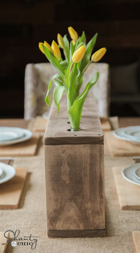 Diy Glass Bottle And Wood Vases
