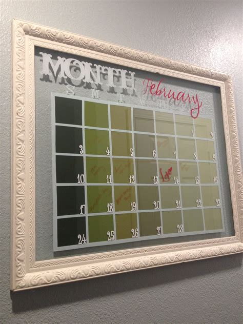 Diy Glass Frame Calendar