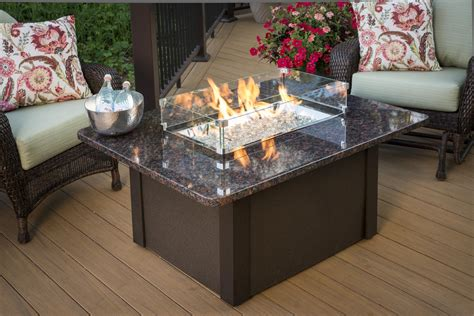 Diy Glass Rock Fire Pit Table Parts