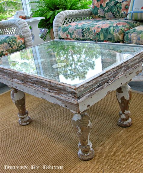 Diy Glass Table Top With Columns
