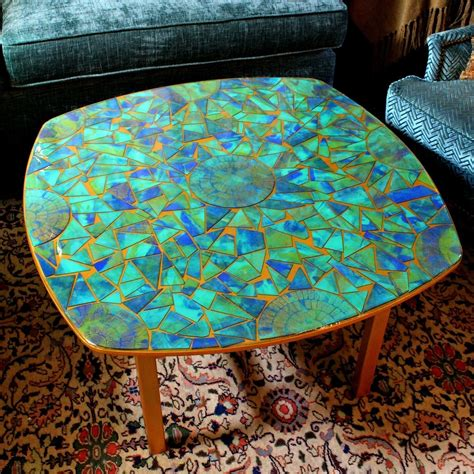 Diy Glass Tile Table Top