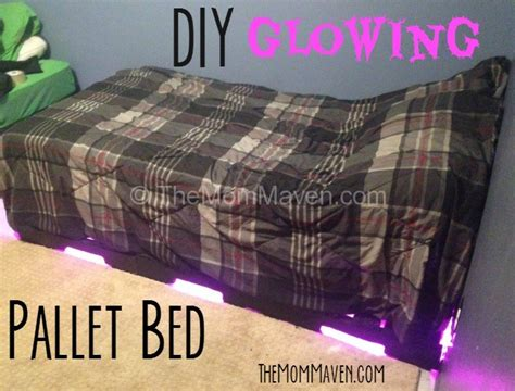 Diy Glowing Pallet Bed Instructions