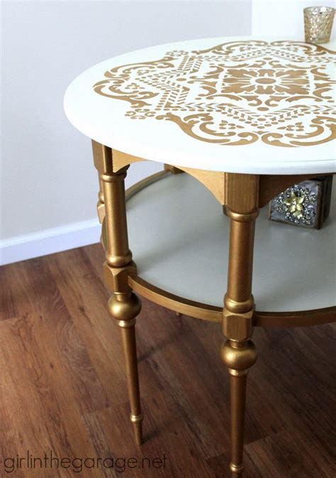 Diy Gold Side Table