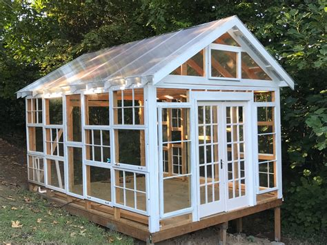 Diy Greenhouse With Old Wood Windows